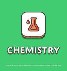 Chemistry icon with test tube vector