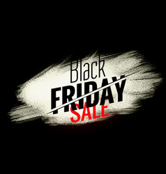 Black friday sale banner with white paint stroke vector