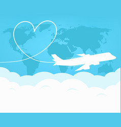 Travel and tourism around the world by plane vector