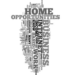 Work from home income opportunities text word vector
