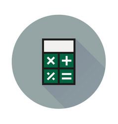 Calculator icon on round background vector