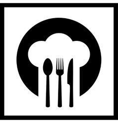 Icon with chef hat vector