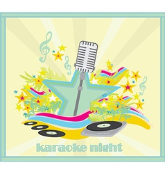 Karaoke party design vector