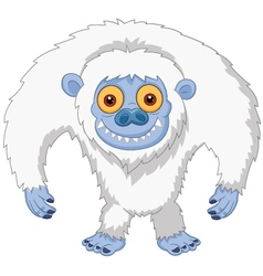 Smiling cartoon yeti vector