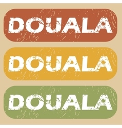 Vintage douala stamp set vector