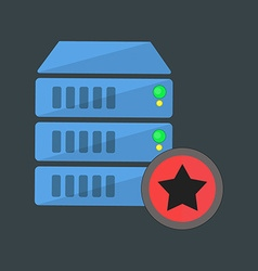 Data server icon vector