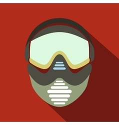 Paintball mask with goggles icon vector