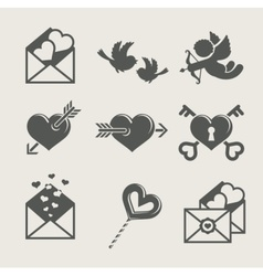 Saint valentines day set icon vector