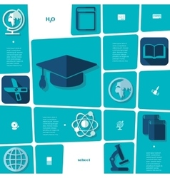 Education flat infographic vector