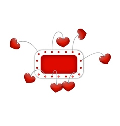 Red frame with hearts vector