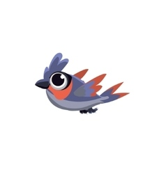 Cute big-eyed dove vector