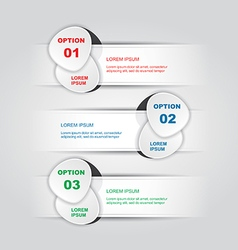 White three steps infographics vector
