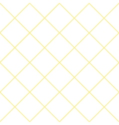 Yellow grid white diamond background vector