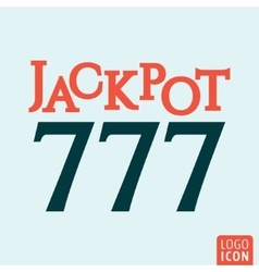Jackpot 777 icon vector image