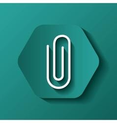 Pin icon media design over hexagon vector