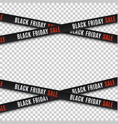 black friday sale banners warning tapes ribbons vector image vector image