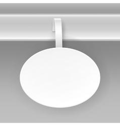 Blank white oval paper advertising price wobbler vector