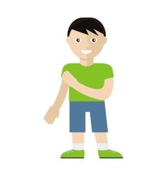 Boy character in flat style vector