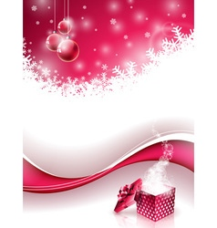 Christmas design with glass balls vector image vector image