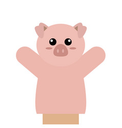 Cute puppet animal vector