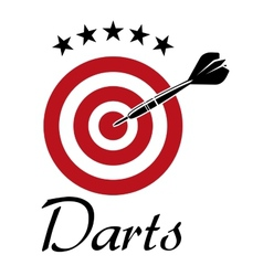 Darts sporting emblem vector