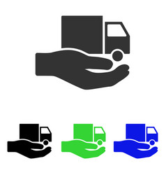delivery service hand flat icon vector image vector image