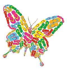 Flip flops butterfly vector image