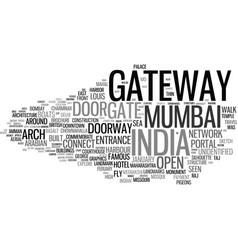 Gateway word cloud concept vector