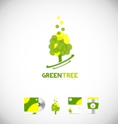 Green tree logo icon design vector