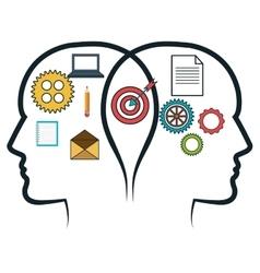head human profile think icon vector image vector image
