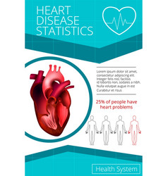 infographics heart 1 vector image vector image