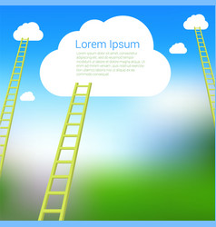 ladder to the clouds template vector image