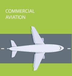 Plane top view vector