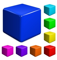 Plastic cubes vector image vector image