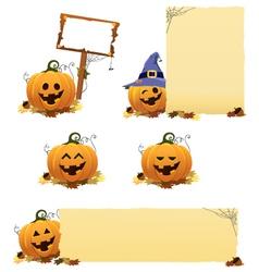 Pumpkin set vector