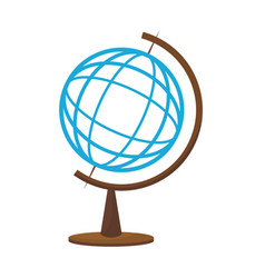school globe map atlas world icon vector image vector image