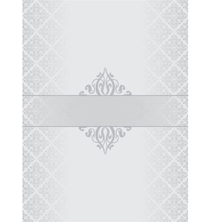 Silver luxury background vector image