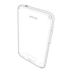 sketch of mobile phone vector image