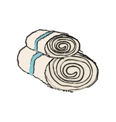 Spa towels bath vector