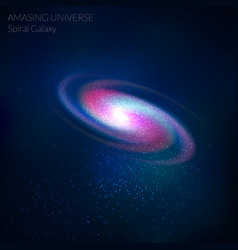 Spiral galaxy cosmos object - vector