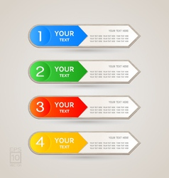 Sticker Label color set vector image