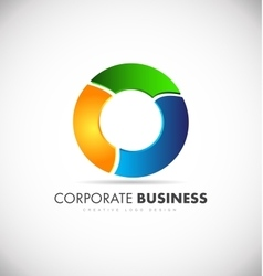 Colors colored circle business logo vector