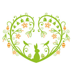 Easter heart bunny vector