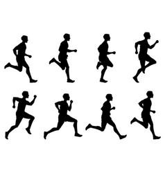 Jogging man running athlete runner vector
