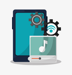 Music player related icons image vector