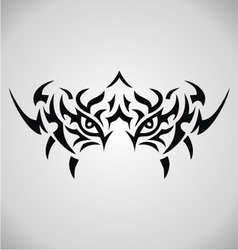 Tribal Tiger Eyes vector image