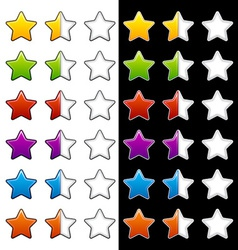 Whole half and blank rating stars vector