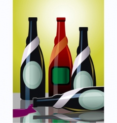 Goblet of wine vector