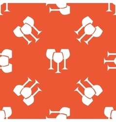 Orange wine glass pattern vector