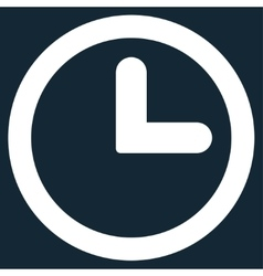 Clock flat white color icon vector